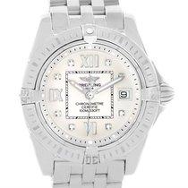Breitling Windrider Cockpit Silver Diamond Dial Ladies Watch...