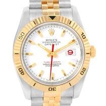 Rolex Datejust Turnograph Steel 18k Yellow Gold Mens Watch 116263