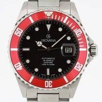 Grovana Automatic Diver RED Bezel NEW 2 Years Warranty Swiss...