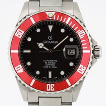Grovana Automatic Diver RED Bezel NEW 2 Years Warranty Swiss...