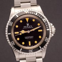 Rolex Submariner ref 5513 unpolished with sticker on the caseback