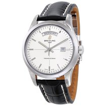 Breitling Transocean Day & Date Silver Dial Automatic...