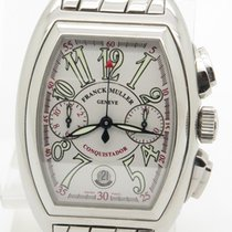 Franck Muller Conquistador Chronograph S'steel W/ Box And...