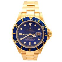 Rolex Submariner 18k Yellow Gold Z series - 16618  Must See