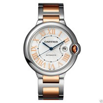 Cartier Ballon Bleu 42mm w6920095 Stainless Steel & Rose...