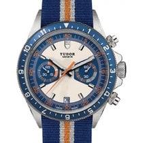 Tudor Heritage Chronograph 70330B Blue & Silver Index...