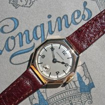 Longines 9K gold octagonal case two-tone dial ladies watch