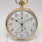 Longines Taschenuhr Chronograph Schaltrad ca. 1903 18 Karat
