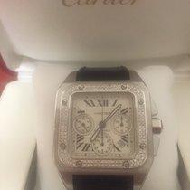 Cartier Santos 100 xl Chronograph diamond bezel