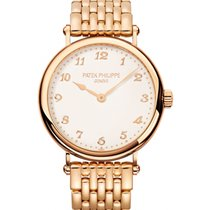 Patek Philippe 7200/1R-001 Calatrava Ladies 34.6mm Ivory...