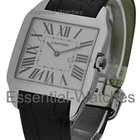 Cartier Santos Dumont Large Size - White Gold on Strap with...