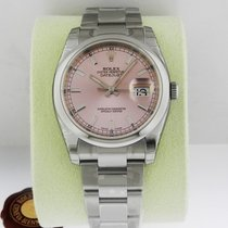 Rolex DATEJUST 36mm Stainless Steel Pink Dial Index 2016