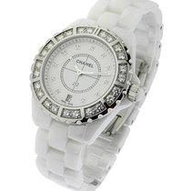 Chanel J12 White Large Size with Diamond Bezel