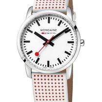 Mondaine Mens Simply Elegant Watch - Red Polka Dot Strap -...