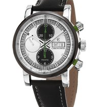 Chronoswiss CH-7585B-SI-ENGL Pacific Chronograph in Steel - On...