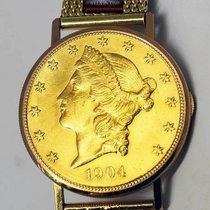 Ulysse Nardin 1904 $20 Liberty Gold Coin Watch 18k Yellow Gold...