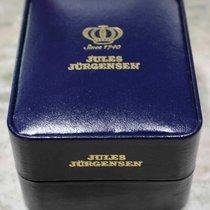 jules jurgensen vintage blu leather box newoldstock