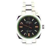 Rolex Milgauss Green glass black dial