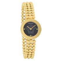 Versace Eon Soiree Ladies Gold Tone Swiss Quartz Watch...