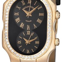 Philip Stein 18KT SOLID GOLD Diamond Dual Time Large watch