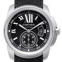 Cartier Calibre de Cartier Stahl / Leder W7100041