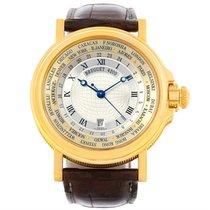 Breguet Marine World Time Hora Mundi 18k Yellow Gold Watch 3700
