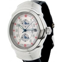 """Versace Gianni 4202/10 Ac/n""""28 In Steel And Leather, 38mm"""