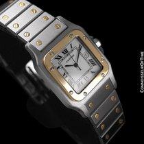 Cartier Mens Santos Galbee Automatique - 18K Gold &...