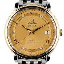 Omega De Ville Prestige Co-Axial Stahl Gelbgold Automatik...