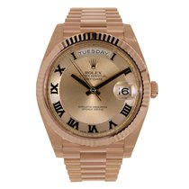 Rolex DAY-DATE II 41mm 18K Rose Gold Pink Diamond Dial