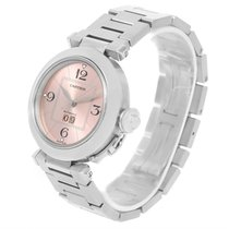 Cartier Pasha Big Date Pink Dial Medium Steel Ladies Watch...