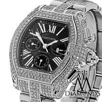 Cartier 23.00 Tcw Diamond Cartier Roadster Xl W62020x6 Black...
