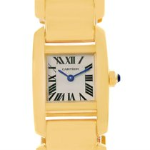 Cartier Tankissime 18k Yellow Gold Ladies Watch W650037h Box...