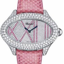 Chopard Montres Dame Cat Eye Diamond Dial Pink Lizard Skin...
