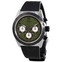 Tudor Fastrider Chrono Green Dial Black Rubber Men's Watch