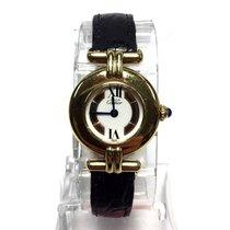 Cartier Must De Vermeil Gp Argent Ladies Watch W/ Trinity Dial