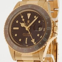 Rolex Oyster Perpetual GMT-Master Gelbgold an Oysterband LC100...