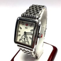 Michele Deco Ss Ladies Watch W/ Factory Diamonds 0.08ct Tw,...
