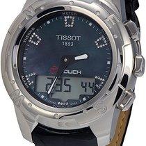 Tissot Women's T0472204612600 Black Mop Diamond Index Dial...