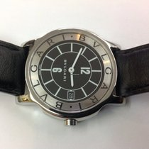 Bulgari Solotempo and steel Box and papers ST 35 S