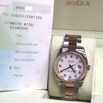 Rolex Datejust Diamond Dial 18K Rose Gold & Stainless Steel
