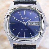 Bulova 1970 Auto Double Date Authentic Vintage Watch (dx29)