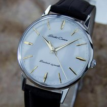 Seiko Crown Vintage Manual Japan Stainless Steel Men's...