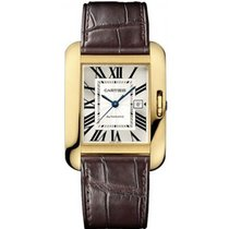 Cartier W5310030 Tank Anglaise Medium - Yellow Gold on Strap...