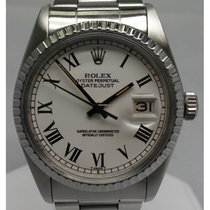 Rolex OYSTER PERPETUAL DATEJUST 16030 WHITE ROMAN DIAL 36MM