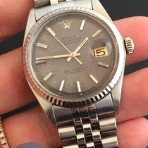 Rolex Date Just Plexy Vintage Grey Dial