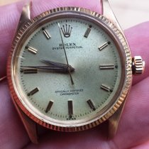 Rolex 14k Gold Oyster Perpetual 6567 Champagne Dial 34mm 1030...