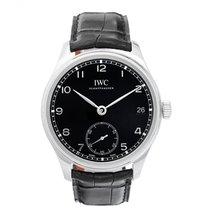 IWC Portuguese Hand Wound Eight Days Black Watch IW510202