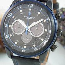 Citizen Eco Drive Sports Chronograph Black Blau Herrenuhr