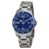 Longines HydroConquest Blue Dial Stainless Steel Mens Watch...